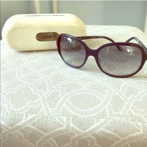 Authentic Chloe Blue Framed Sunglasses